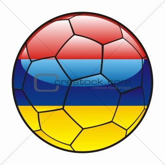 Armenia flag on soccer ball