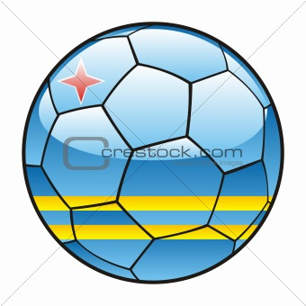 Aruba flag on soccer ball