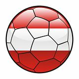 Austria flag on soccer ball