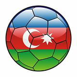 Azerbaijan flag on soccer ball