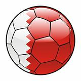 Bahrain flag on soccer ball