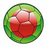 Bangladesh flag on soccer ball
