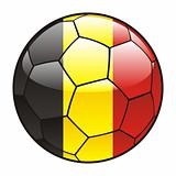 Belgium flag on soccer ball