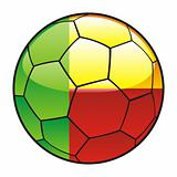 Benin flag on soccer ball
