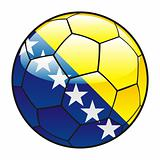 Bosnia and Herzegovina flag on soccer ball