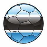 Botswana flag on soccer ball