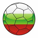 Bulgaria flag on soccer ball