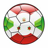 Burundi flag on soccer ball