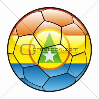 Cabinda flag on soccer ball
