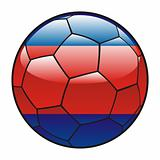 Cambodia flag on soccer ball