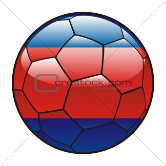 Cambodia flag on soccer ball
