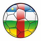Central Africa flag on soccer ball