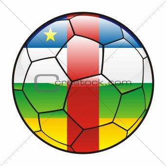 Central Africa flag on soccer ball