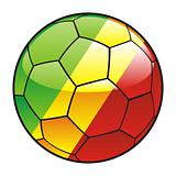 Congo flag on soccer ball