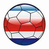 Costa Rica  flag on soccer ball