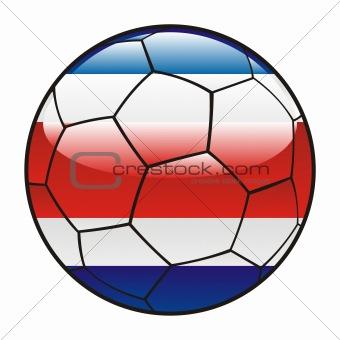 Costa Rica  flag on soccer ball