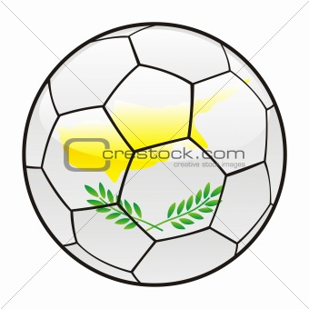 Cyprus flag on soccer ball