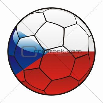 Czech flag on soccer ball