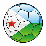 Djibouti flag on soccer ball