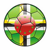 Dominica flag on soccer ball