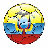 Ecuador flag on soccer ball