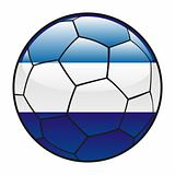 El Salvador flag on soccer ball