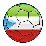 Equatorial Guinea flag on soccer ball