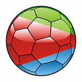 Eritrea flag on soccer ball