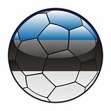 Estonia flag on soccer ball