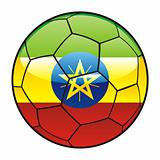 Ethiopia flag on soccer ball