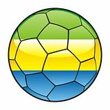 Gabon flag on soccer ball