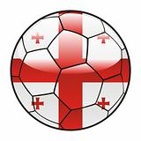Georgia flag on soccer ball