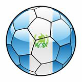 Guatemala flag on soccer ball