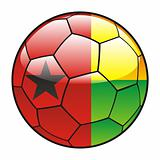 Guinea Bissau flag on soccer ball