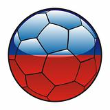 Haiti flag on soccer ball