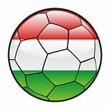 Hungary flag on soccer ball