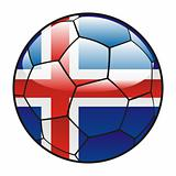 Iceland flag on soccer ball