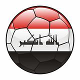 Iraq flag on soccer ball