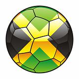 Jamaica flag on soccer ball
