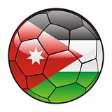Jordan flag on soccer ball