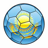 Kazakhstan flag on soccer ball