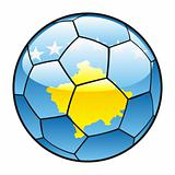 Kosovo flag on soccer ball