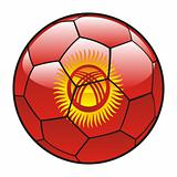 Kyrgyzstan flag on soccer ball