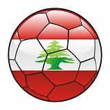 Lebanon flag on soccer ball
