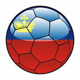 Liechtenstein flag on soccer ball