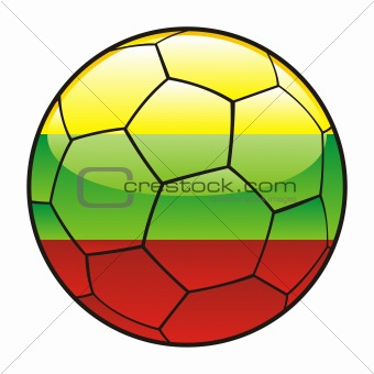 Lithuania flag on soccer ball