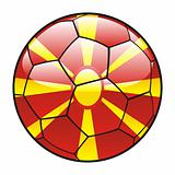 Macedonia flag on soccer ball