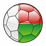 Madagascar flag on soccer ball