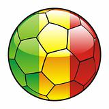 Mali flag on soccer ball