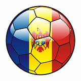 Moldova flag on soccer ball